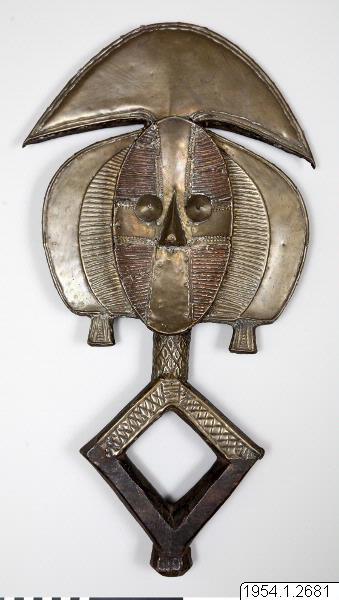 begravningsfigur, förfädersbild, skulptur, reliquary figure, sculpture, mbulungulu