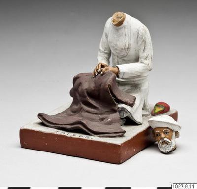skulptur, figur, sculpture, tailor