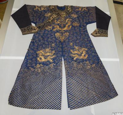mandarinrock, dräkt, costume, garment, garb