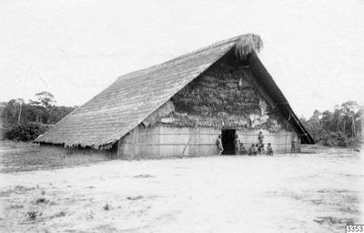 indianbyggnad, byggnad, maloka, eldstad, fotografi, photograph@eng