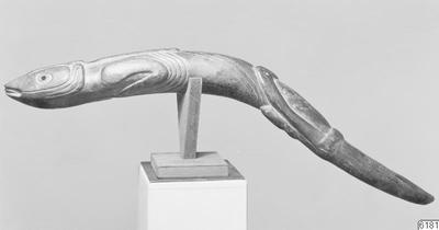 djurskulptur, föremål, fisk [?], ödla [?], skulptur, fotografi, photograph@eng