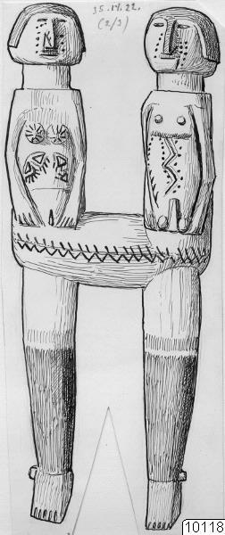föremål, skulptur, föremålsbild, teckning, träskulptur, docka [dockor o.d.], Teckning, drawing@eng