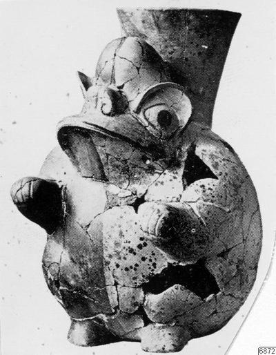 figur, mytologi, grodform, lerkärl, fotografi, photograph@eng