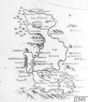 Karta, centrala Mexiko, illustration, teckning, Teckning, Karta, map@eng, drawing@eng