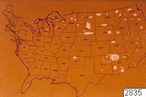 Indianreservat, reproduktion, Karta, map@eng