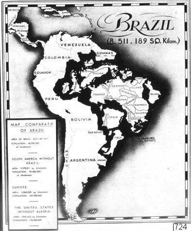 Karta, Brasilien, Karta, map@eng