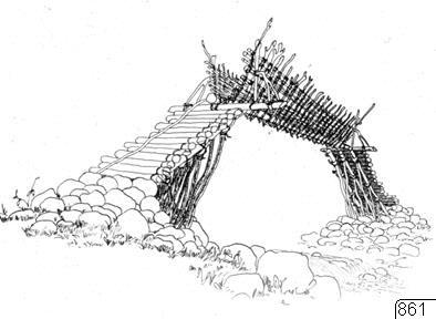 byggnad, teckning, bro, träbro, Teckning, drawing@eng