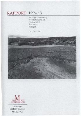 Arkeologisk undersökning av fornlämning RAÄ 325, Prästbordet 1;1, Tuna sn, Medelpad.  Del 1