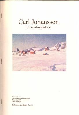 En norrlandsmålare Carl Johansson