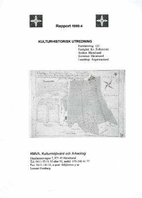 Kulturhistorisk utredning fastighet: Kv. Folkskolan