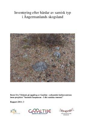 Inventering efter härdar av samisk typ i Ångermanlands skogsland