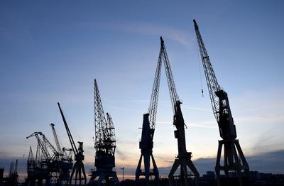 Old port cranes, Antwerp