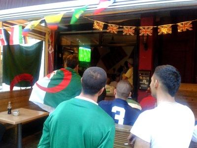 Algerian football fans in London