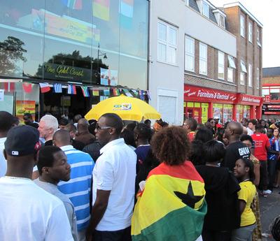 Ghanaian football fans in London