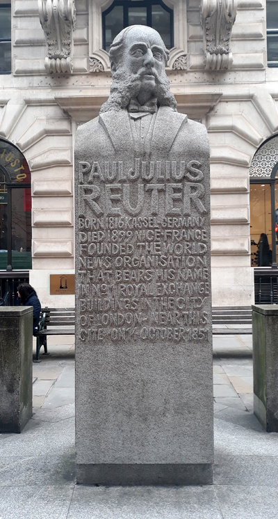Statue of Paul Julius Reuter
