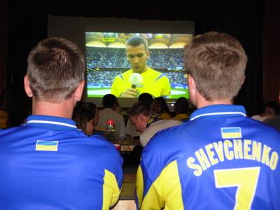 Ukrainian football fans in London