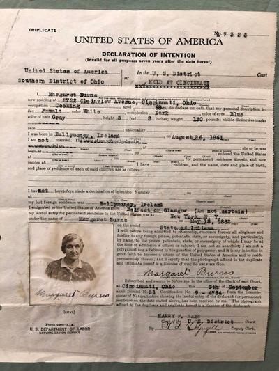 A Cook/ Relative Declares Citizenship in Cincinnati, Ohio