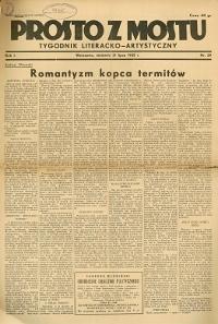 Prosto z Mostu : tygodnik literacko-artystyczny 1935 R.I nr 29