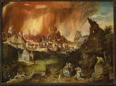 Pożar Sodomy, Lot z córkami (Rdz 19, 30-35)