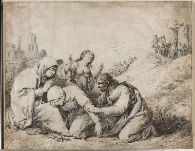 Trzy Marie i święty Jan Ewangelista pod Golgotą