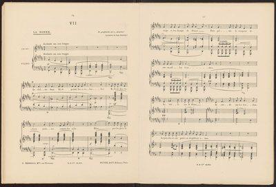 Ignacy Jan Paderewski, Op. 22. Douze Mélodies sur des Poésies de Catulle Mendes