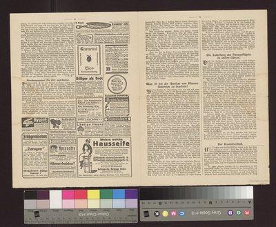 Projekt przebudowy Bohdanowa - podwójna karta z czasopisma niemieckojęzycznego, opis konstrukcji klatek dla królików