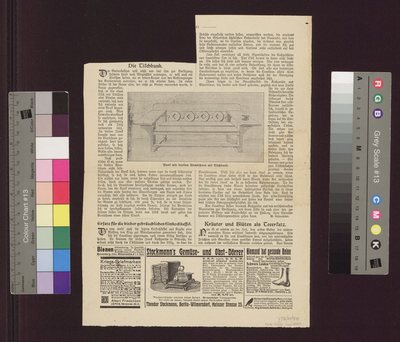 Projekt przebudowy Bohdanowa - wycinek z czasopisma niemieckojęzycznego - opis mebla:
