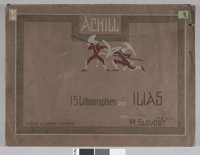 Okładka teki: Achill. 15 Lithographien zur Ilias. Egzeplar No 41