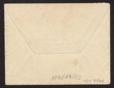 List do prof. dra Karola Żuławskiego z zaproszeniem na wizytę w domu artysty dn. 15 listopada 1905 r., z kopertą