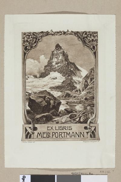Ex libris Melch. Portmann