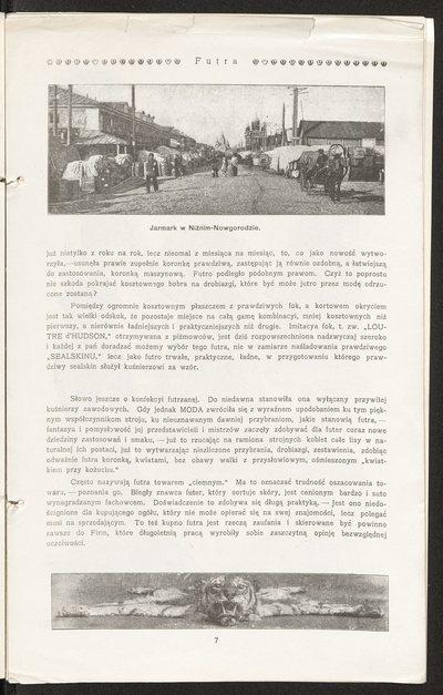 Katalog Domu Mody Bogusław Herse w Warszawie na 1908 r.