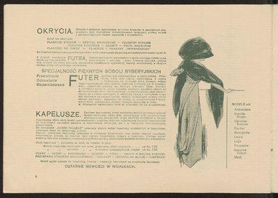 Katalog Domu Mody Bogusław Herse w Warszawie na sezon wiosna-lato 1909