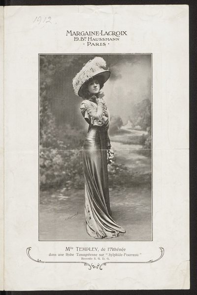 Broszura reklamowa domu mody Margaine-Lacroix w Paryżu