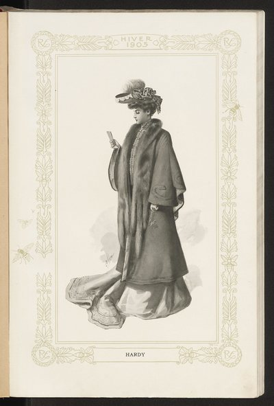 Katalog ubiorów damskich firmy Révillon Freres na sezon zimowy 1905