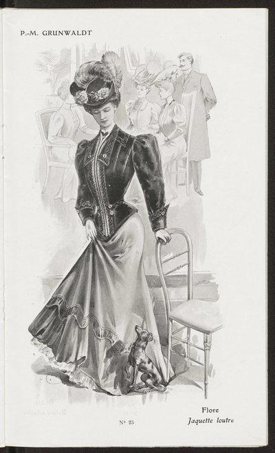 Katalog ubiorów damskich domu mody P. M. Grunwaldt w Paryżu na sezon zimowy 1905-1906