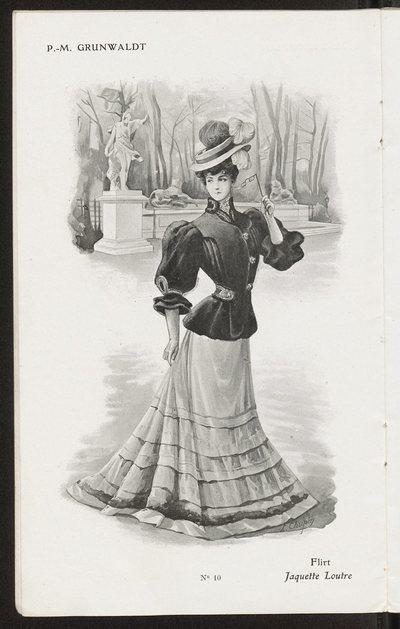 Katalog ubiorów damskich domu mody P. M. Grunwaldt w Paryżu na sezon zimowy 1906-1907