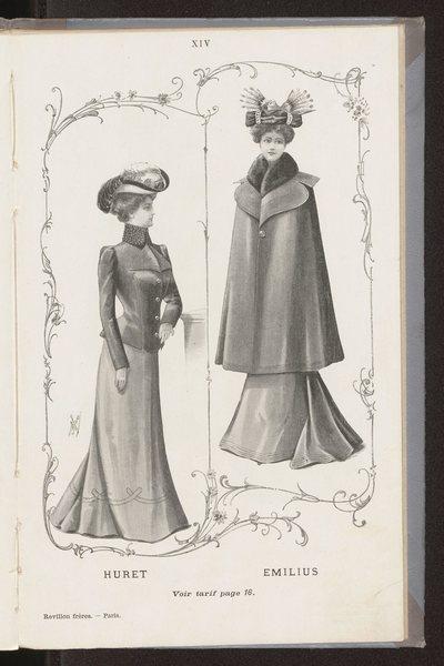 Katalog ubiorów damskich i męskich domu mody Revillon Freres w Paryżu (karty z oryginalnej broszury oprawione wtórnie w sztywną okładkę)