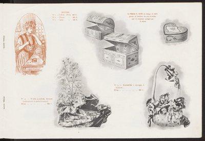 Katalog dodatków damskich firmy Maison Ernest Kees w Paryżu