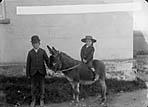 boy riding a donkey, Pembroke]