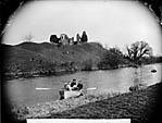 castle and Afon Teifi, Newcastle Emlyn]