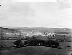 view of Tregaron from Castle Hill]