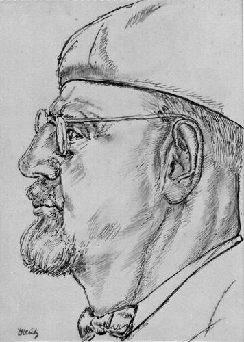 Portret van man met bril en alpino-pet