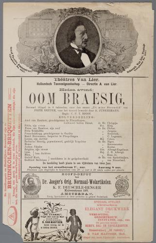 D008644: Programma van Theatres Van Lier van het blijspel