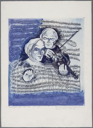 Yehudi Menuhin, playing and conducting Mozart's/5th violincon- certo in A major with the Jeruzalem/Symphony Orchestra in March 1979