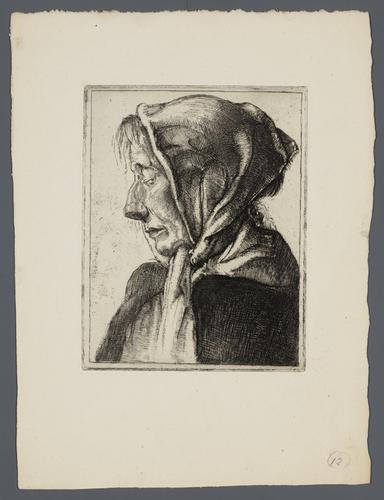 [Oude vrouw met hoofddoek]