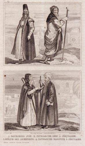 1. Bourgeois Juif. 2. Patriarche Grec â Jérusalem. 3. Évêque des Arméniens. 4. Patriarche maronite â Jérusalem