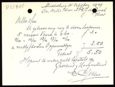 D012188: Correspondentie van de joodse gemeente Middelburg, 1945-1949 + financiën 1937-1939