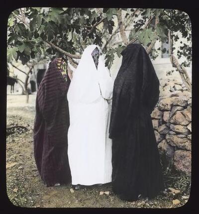 Veiled mohammedan women