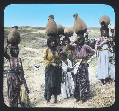 Women carrying their water jars
