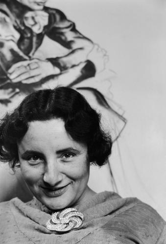 [Portret Fré Cohen in haar atelier in de Karel du Jardinstraat]